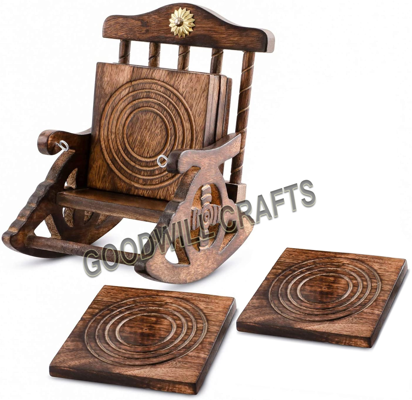 Goodwill Crafts Wooden Chair Coasters Big